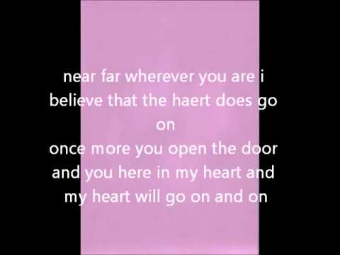 celine dion - my heart will go on instrumental with lyrics