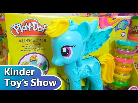 "Пластилин Плей До набор ""Май Литл Пони"" украшаем Радугу Дэш (Play Doh My Little Pony)"